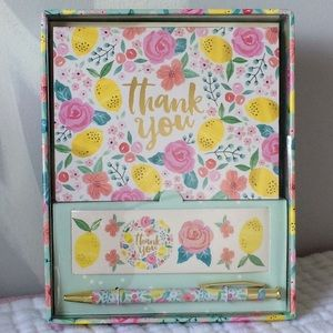 Clementine Thank you cards w/ pen and stickers set